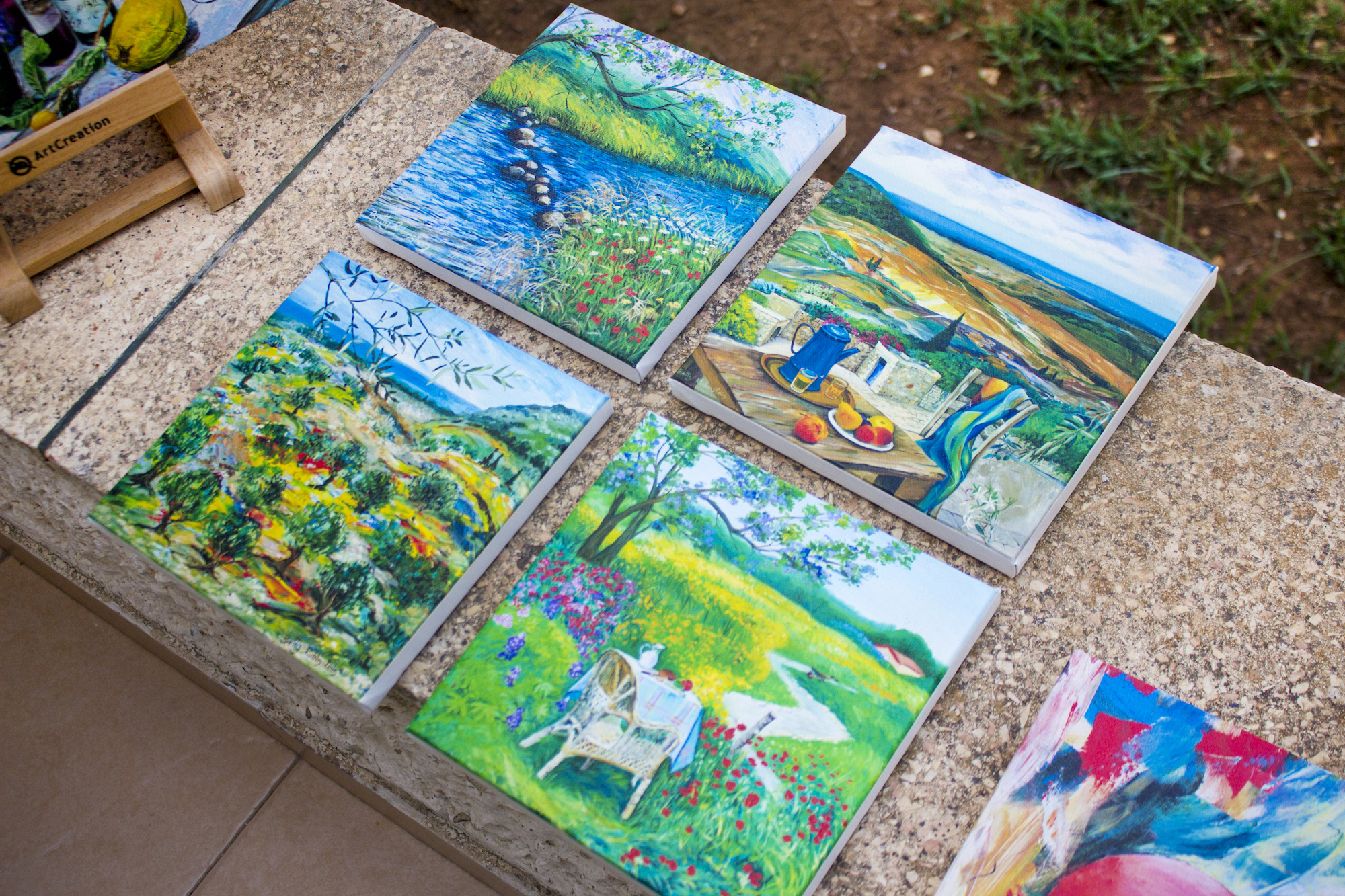 Artwork by Betty Rubinstein at her studio in Zikhron Ya'akov, Israel, 2017.