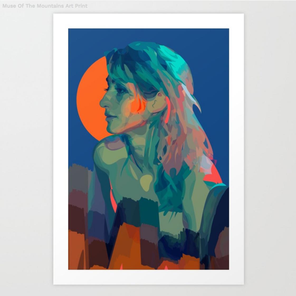 Designs by Geena Matuson (@geenamatuson) 'The Girl Mirage' #thegirlmirage on Society6.com/geenamatuson.