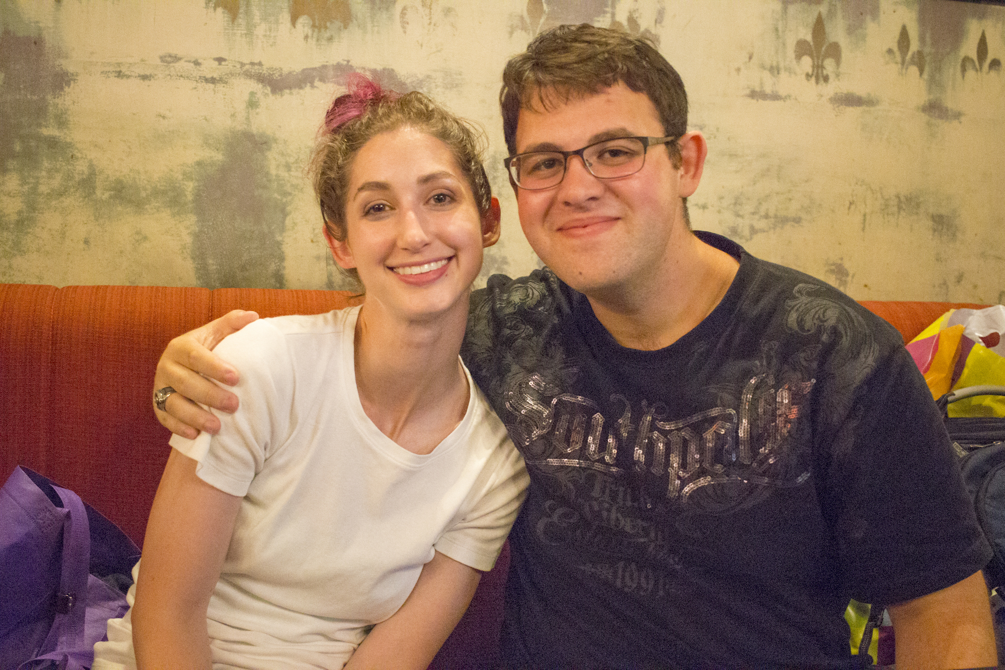 Geena Matuson (@geenamatuson) and Jonathan Reizes in Rishon LeZion, Israel, September 2017.
