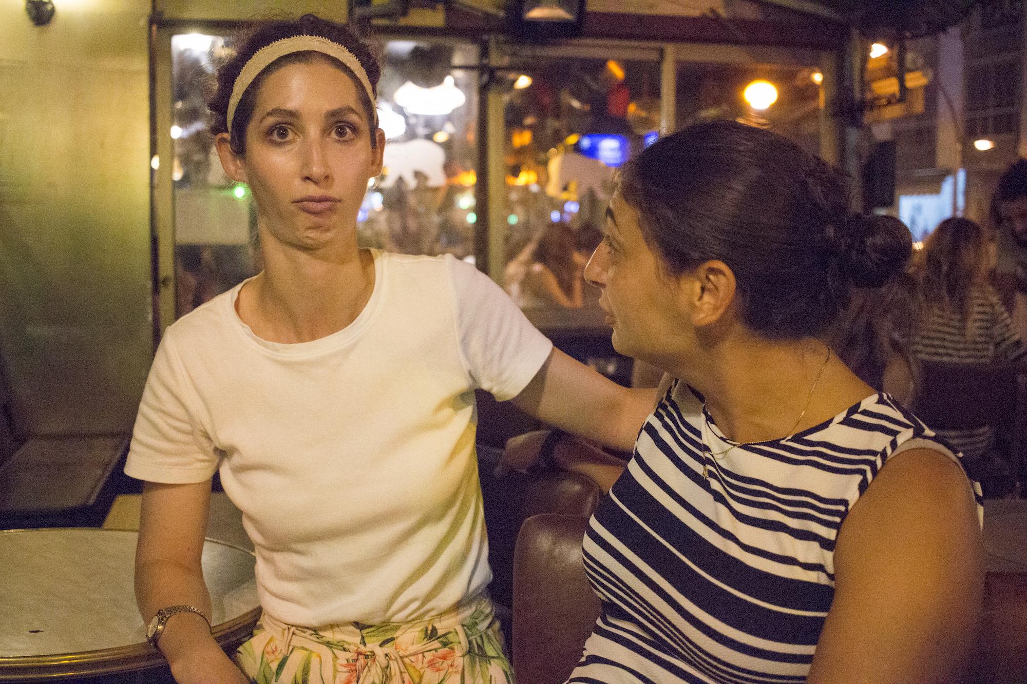 Geena Matuson (@geenamatuson) and Heather Luster in Rishon LeZion, Israel, September 2017.