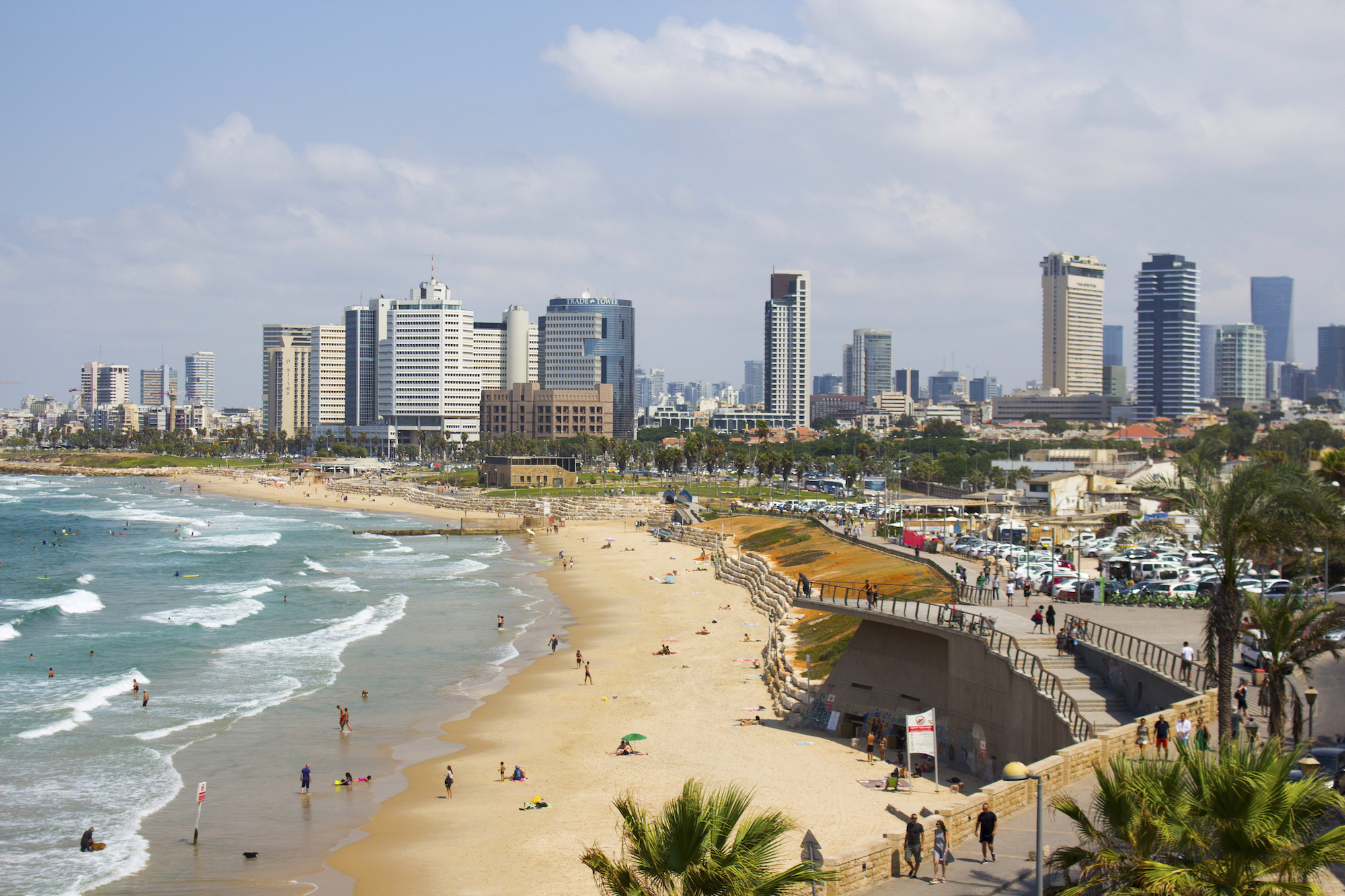 An overlook of the beach in Tel Aviv, Israel. #Travel photography by Geena Matuson @geenamatuson #thegirlmirage.