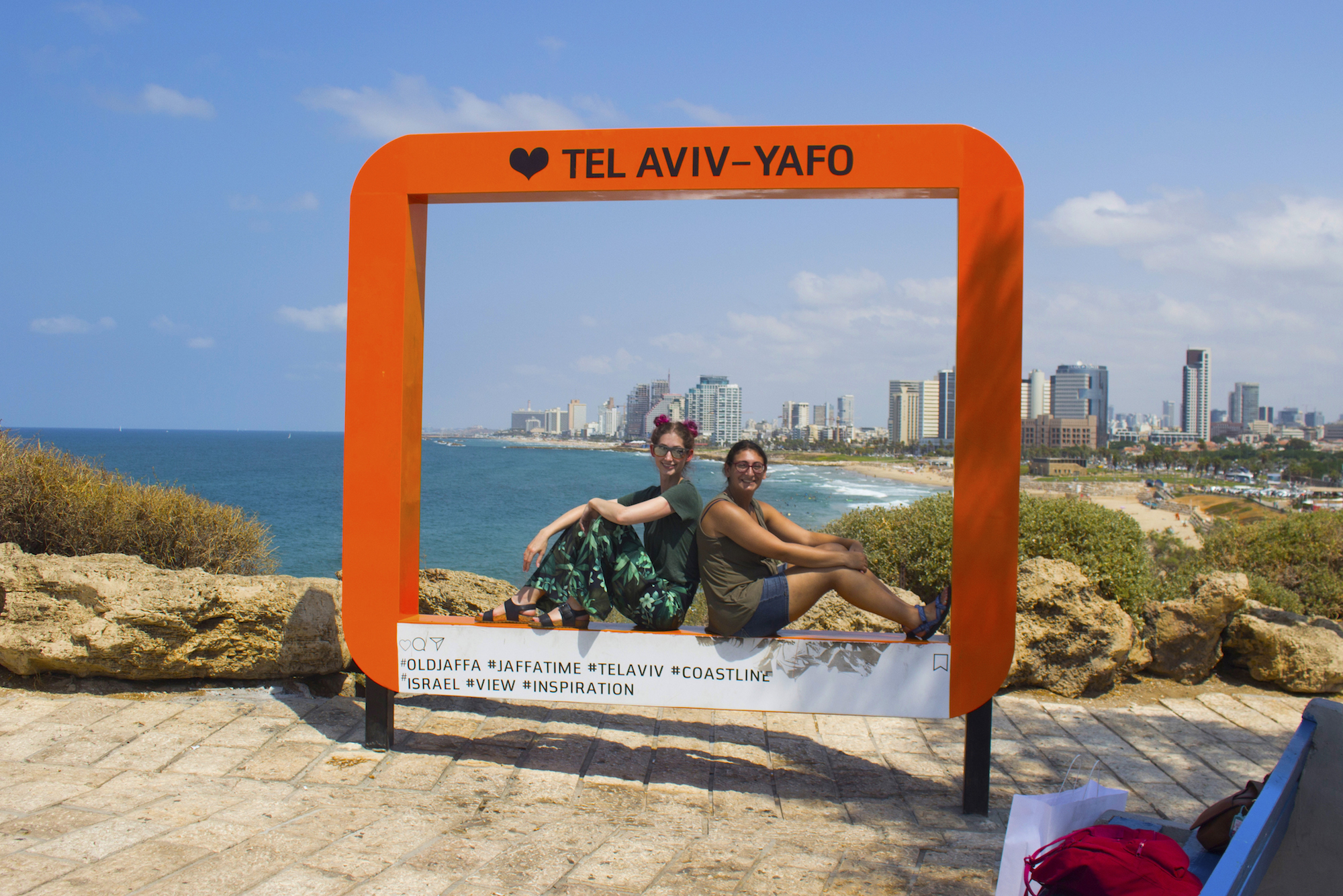Geena Matuson and Heather Luster in Tel Aviv-Yafo, Israel. See more @geenamatuson #thegirlmirage.