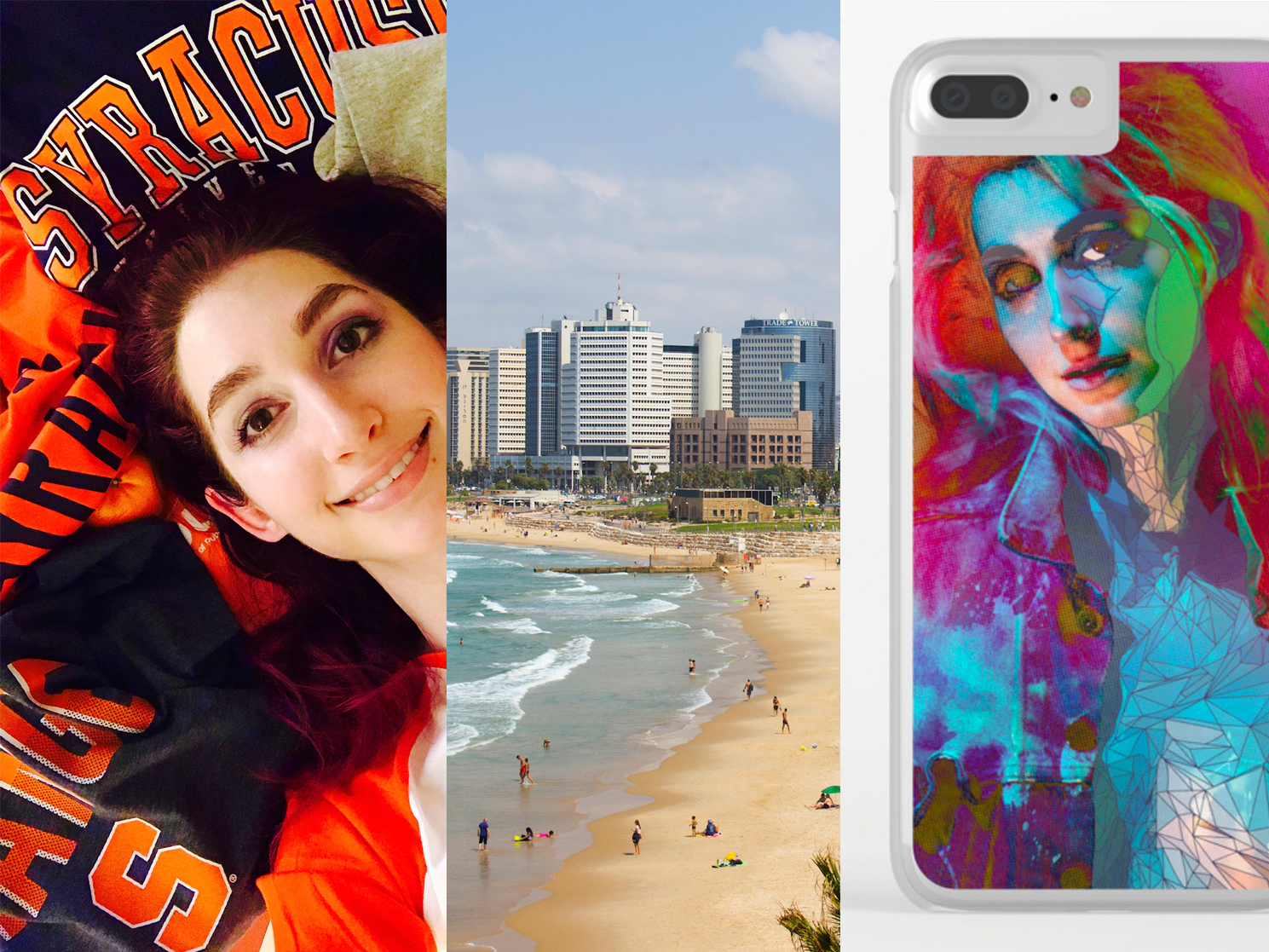 Geena Matuson's (@geenamatuson) 2017 Year In Review featuring her acceptance to Syracuse University's Newhouse School, travels to Israel, and her Society6 shop. See more @ https://thegirlmirage.com.
