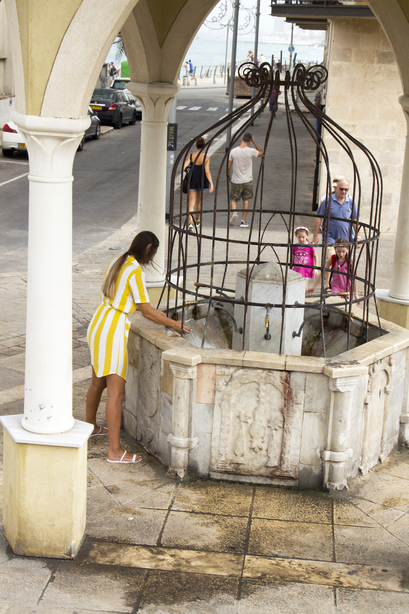 A well in Tel Aviv-Yafo, Israel #travel photography by Geena Matuson @geenamatuson #thegirlmirage at thegirlmirage.com.