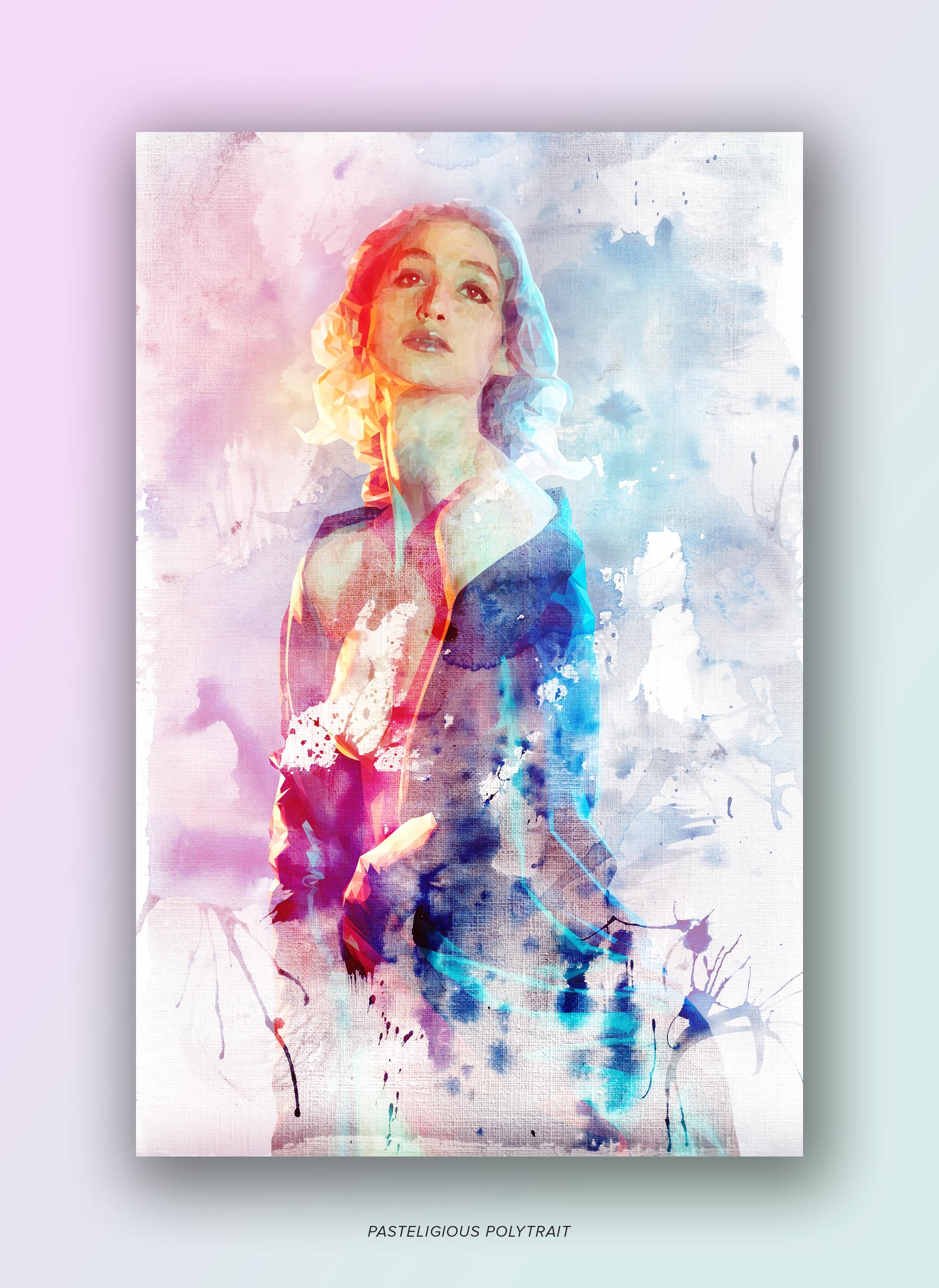 "Series of art prints ""Pasteligious Polytrait"" by Geena Matuson @geenamatuson #thegirlmirage. See more @ https://thegirlmirage.com."