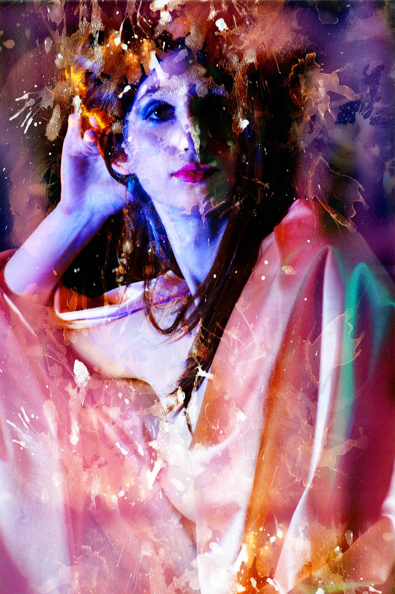 """Artwork """"The Queen"""" part of series """"The Girl Mirage"""" by Geena Matuson @geenamatuson #thegirlmirage. See more @ https://thegirlmirage.com."""