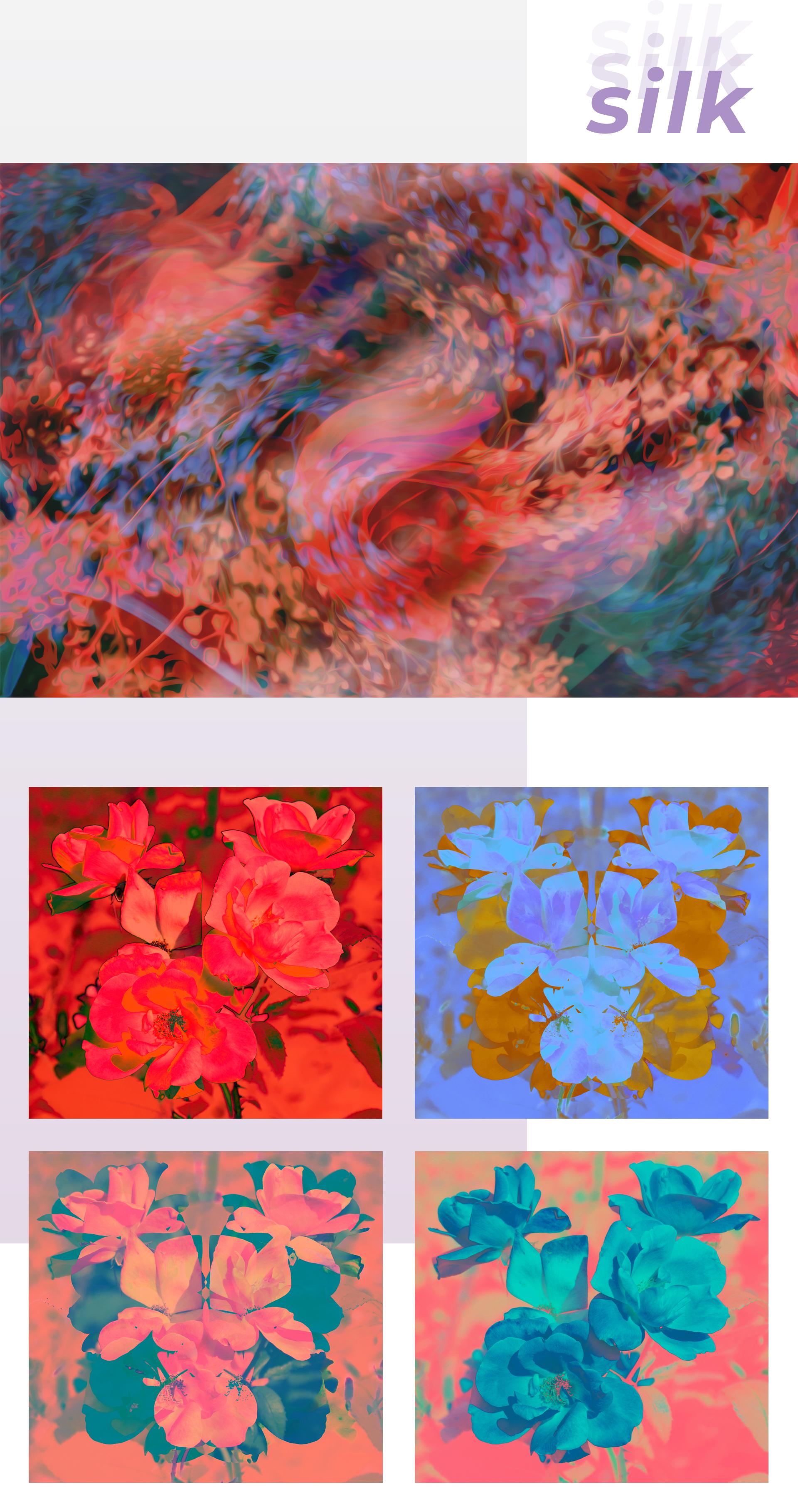 "Artwork ""Silk"" part of series of art prints ""Flower Daze"" by Geena Matuson @geenamatuson #thegirlmirage. See more @ https://thegirlmirage.com."