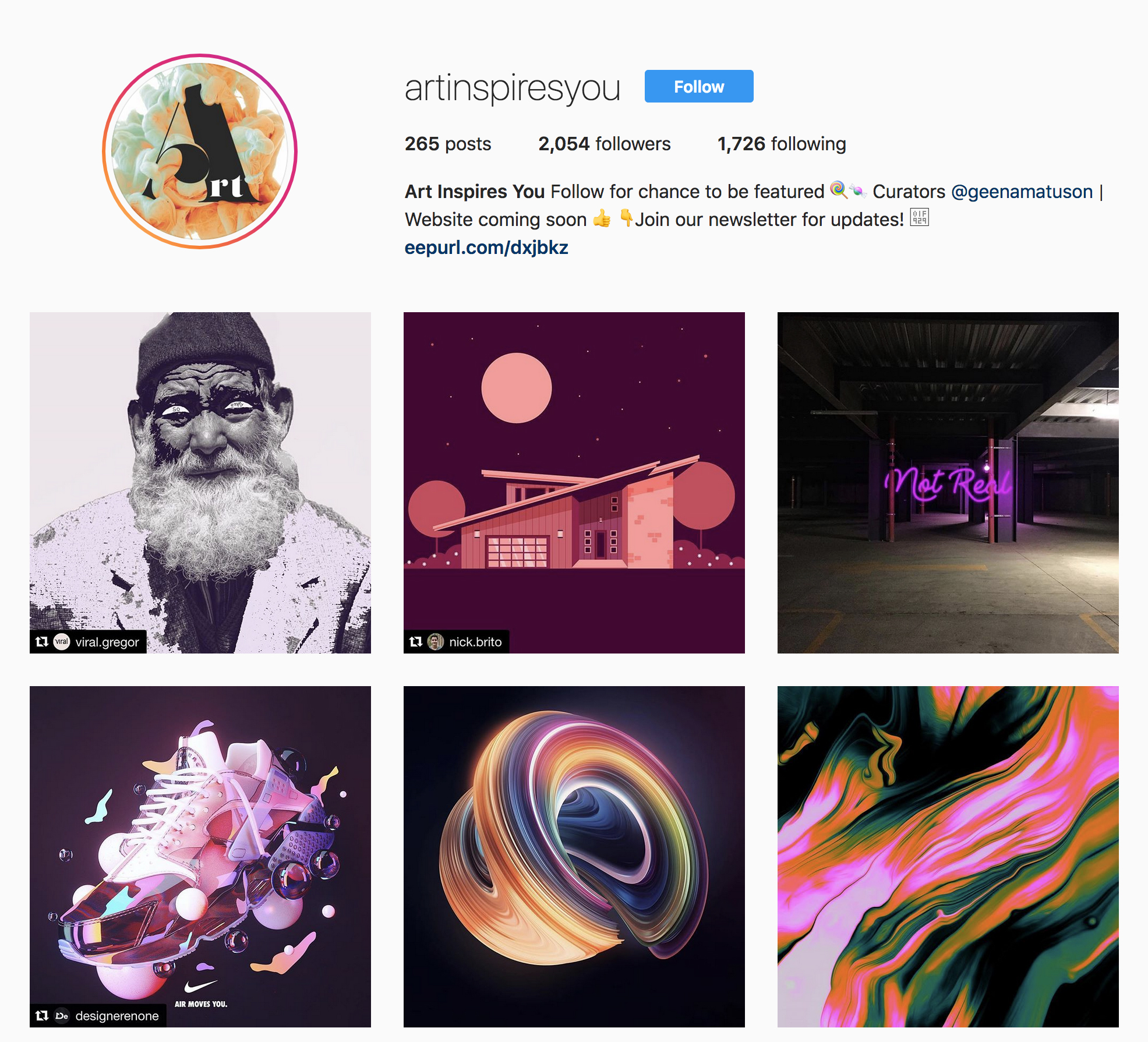 "Instagram for ""Art Inspires You"" (@artinspiresyou) community for artists."