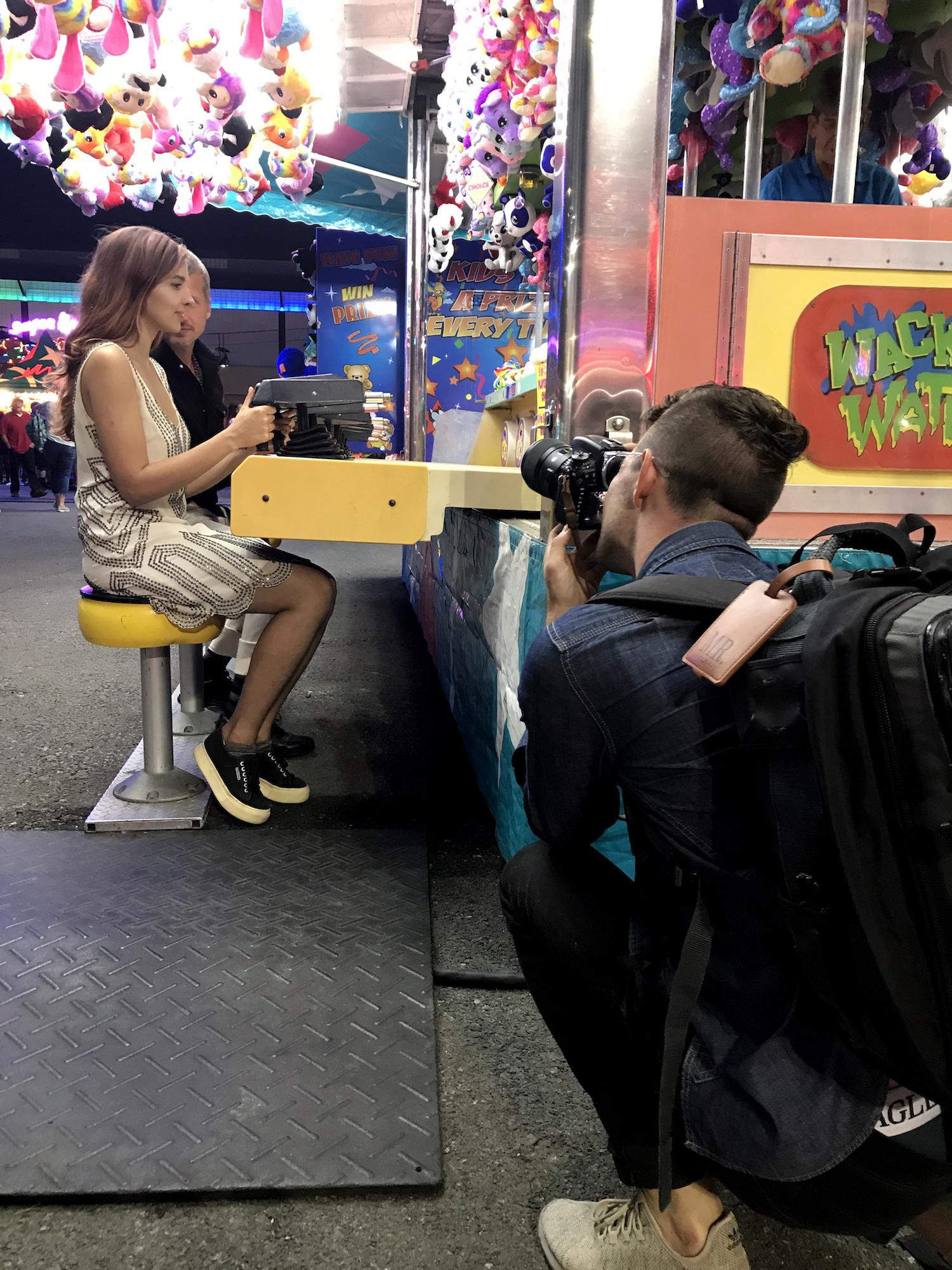 Molly Naef and Jake Roberts with Zach Murphy of ZAM Photo (zamphoto.net). Behind-the-scenes photo by Geena Matuson (@geenamatuson).