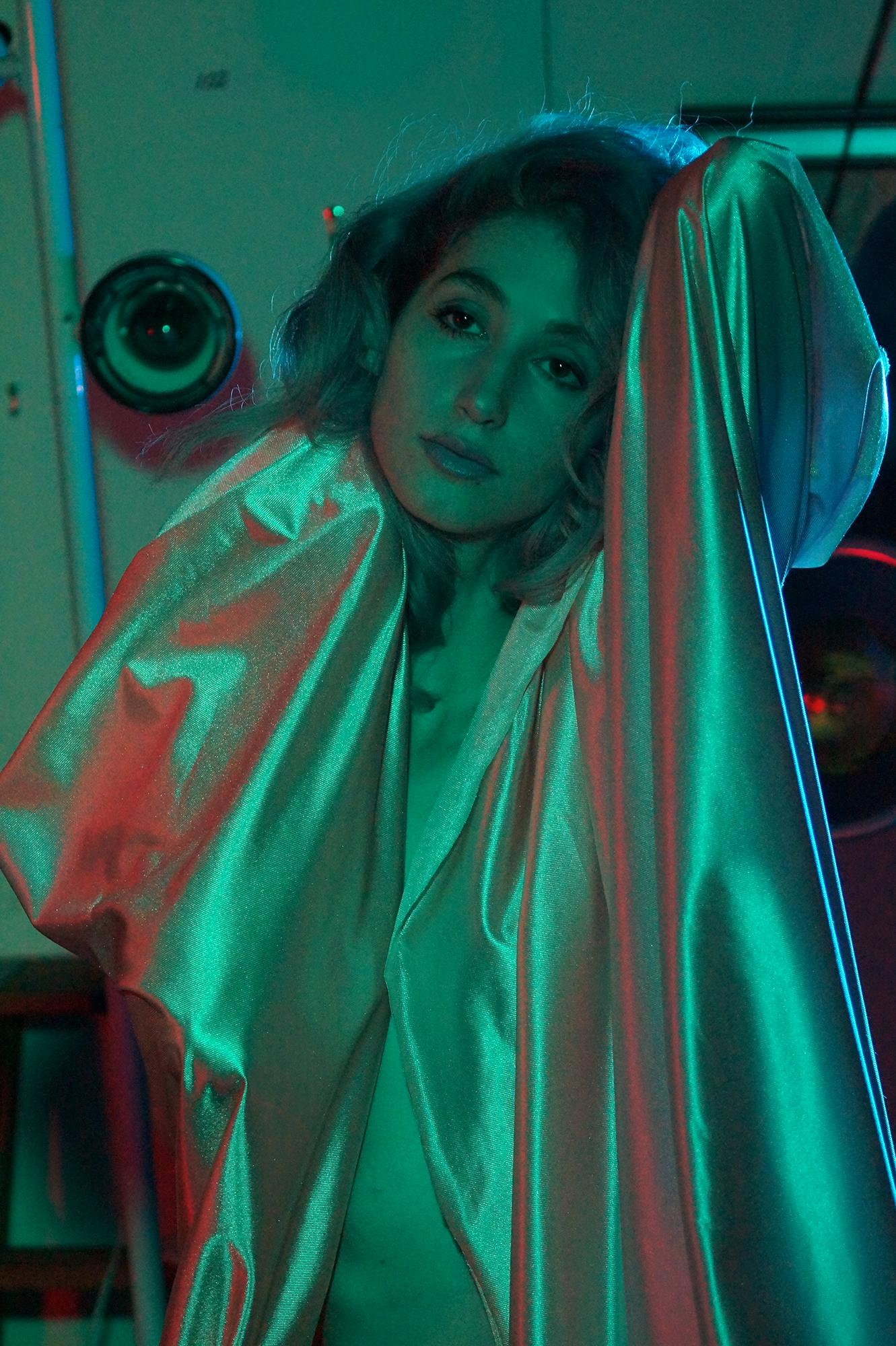 Geena Matuson (@geenamatuson) modeling in the studio, 2015.