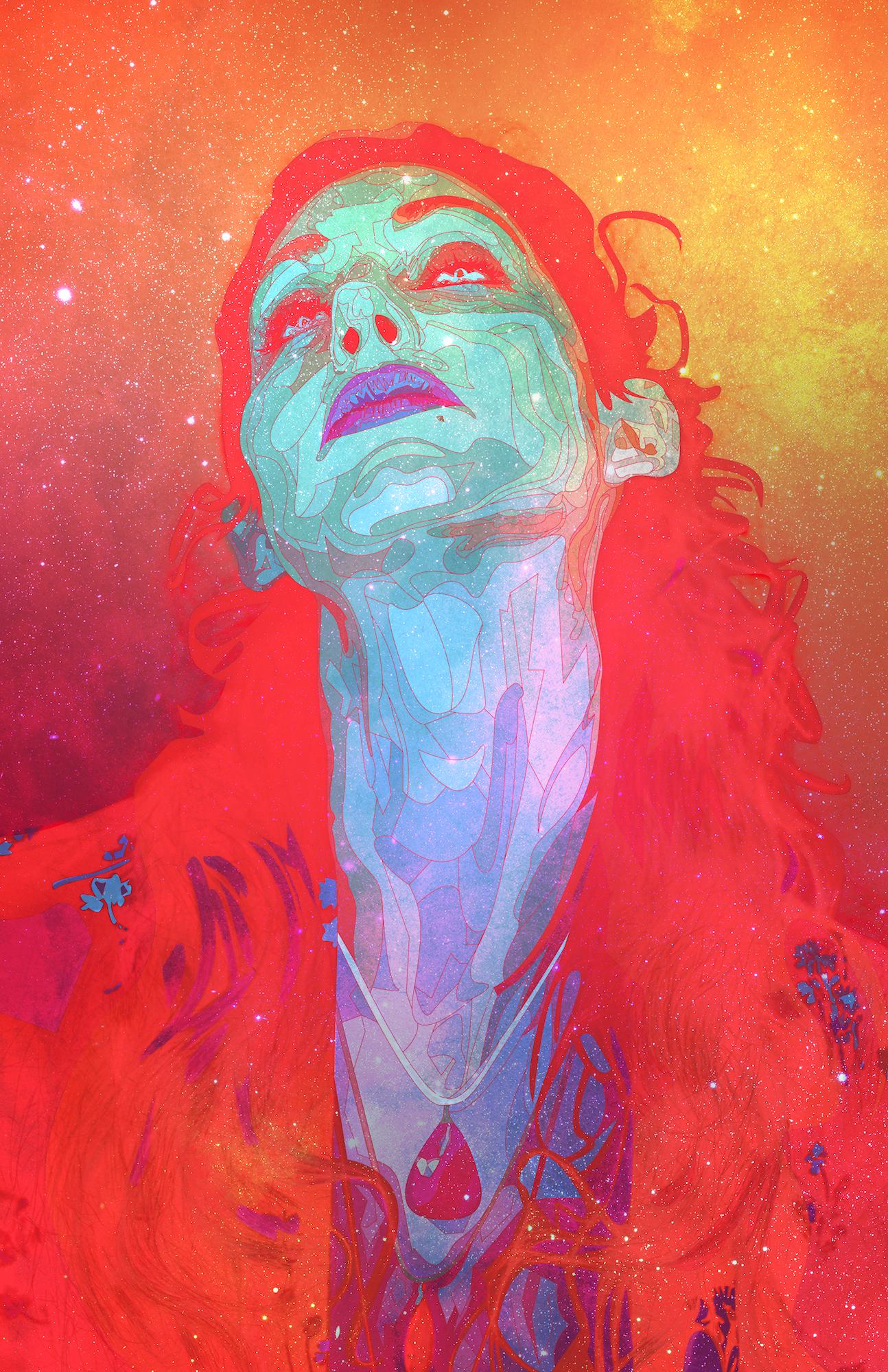 "Geena Matuson's (@geenamatuson) art ""Grow Galactic"" art print @ thegirlmirage.com."