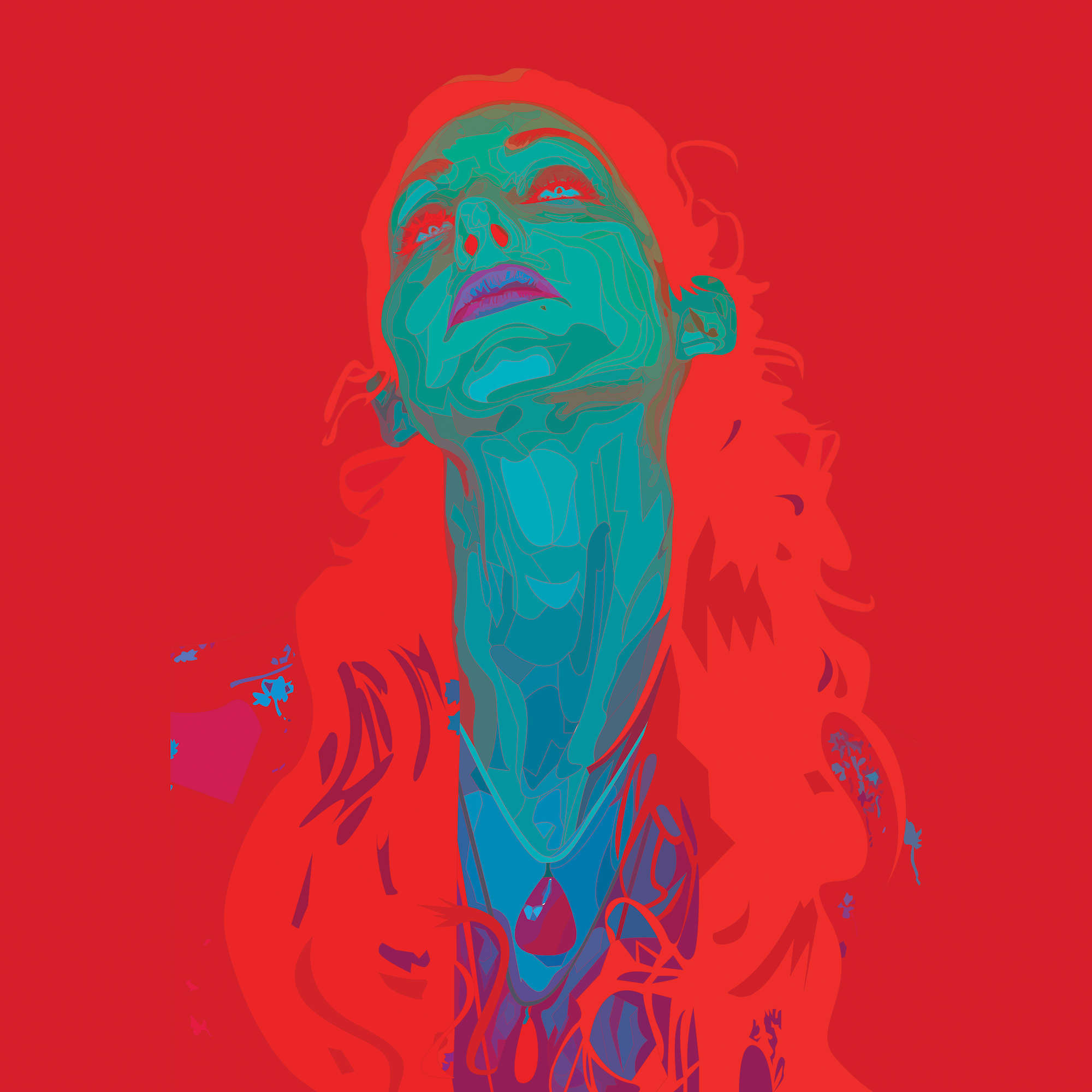 "Geena Matuson's (@geenamatuson) art ""I Sea Red"" art print @ thegirlmirage.com."