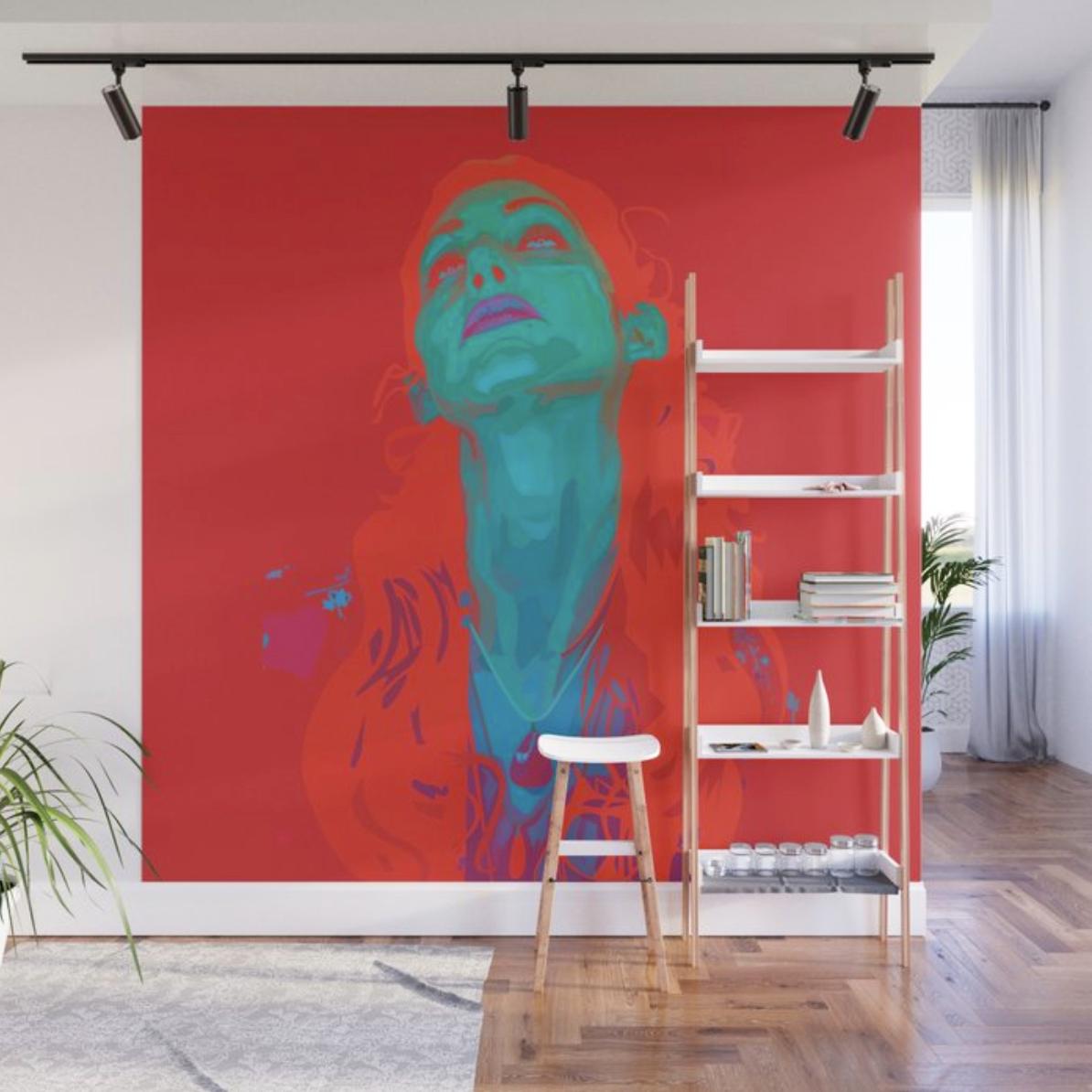 "Geena Matuson's (@geenamatuson) art ""I Sea Red"" printed on demand in her online shop @ thegirlmirage.com."