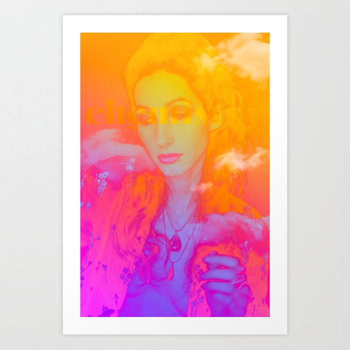 "Geena Matuson's (@geenamatuson) art ""Chemistry"" printed on demand in her online shop @ thegirlmirage.com."