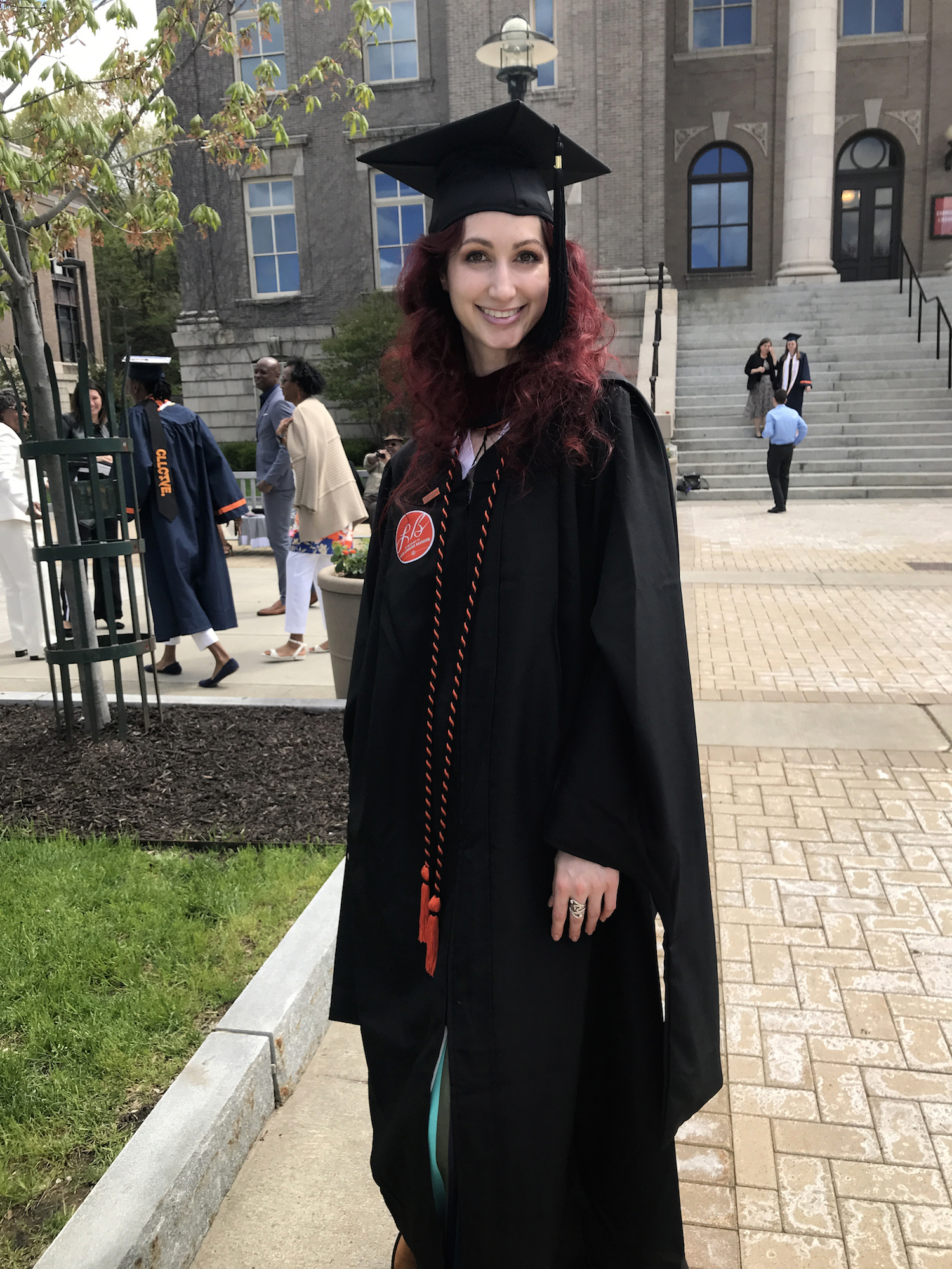 Syracuse University Newhouse Masters student Geena Matuson on graduation day, May 2019.