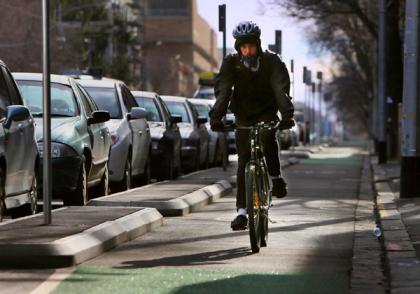 [Segregated bike lanes, Copenhagen]