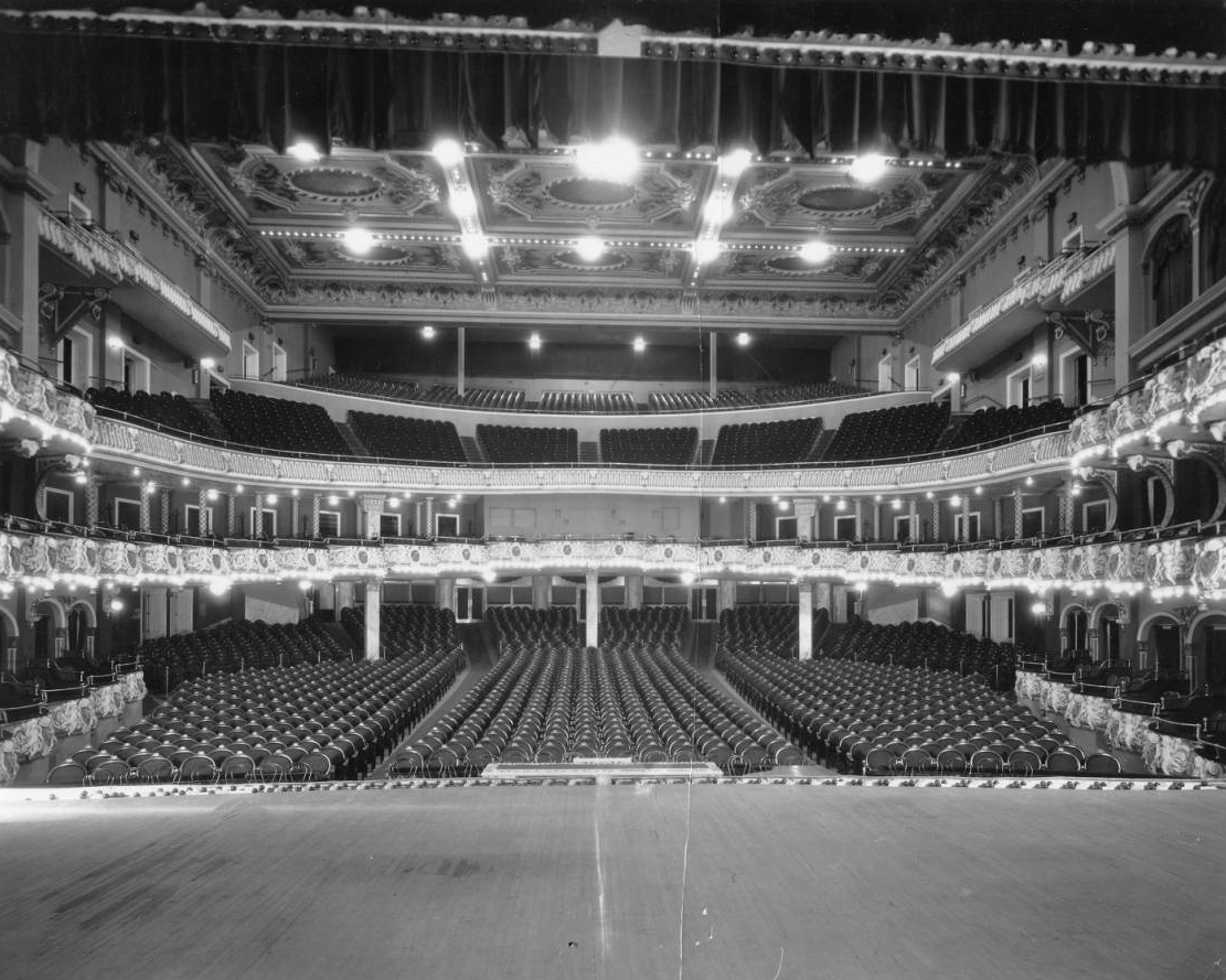 Original view from center stage. Photo © Temple University Libraries, Urban Archives.
