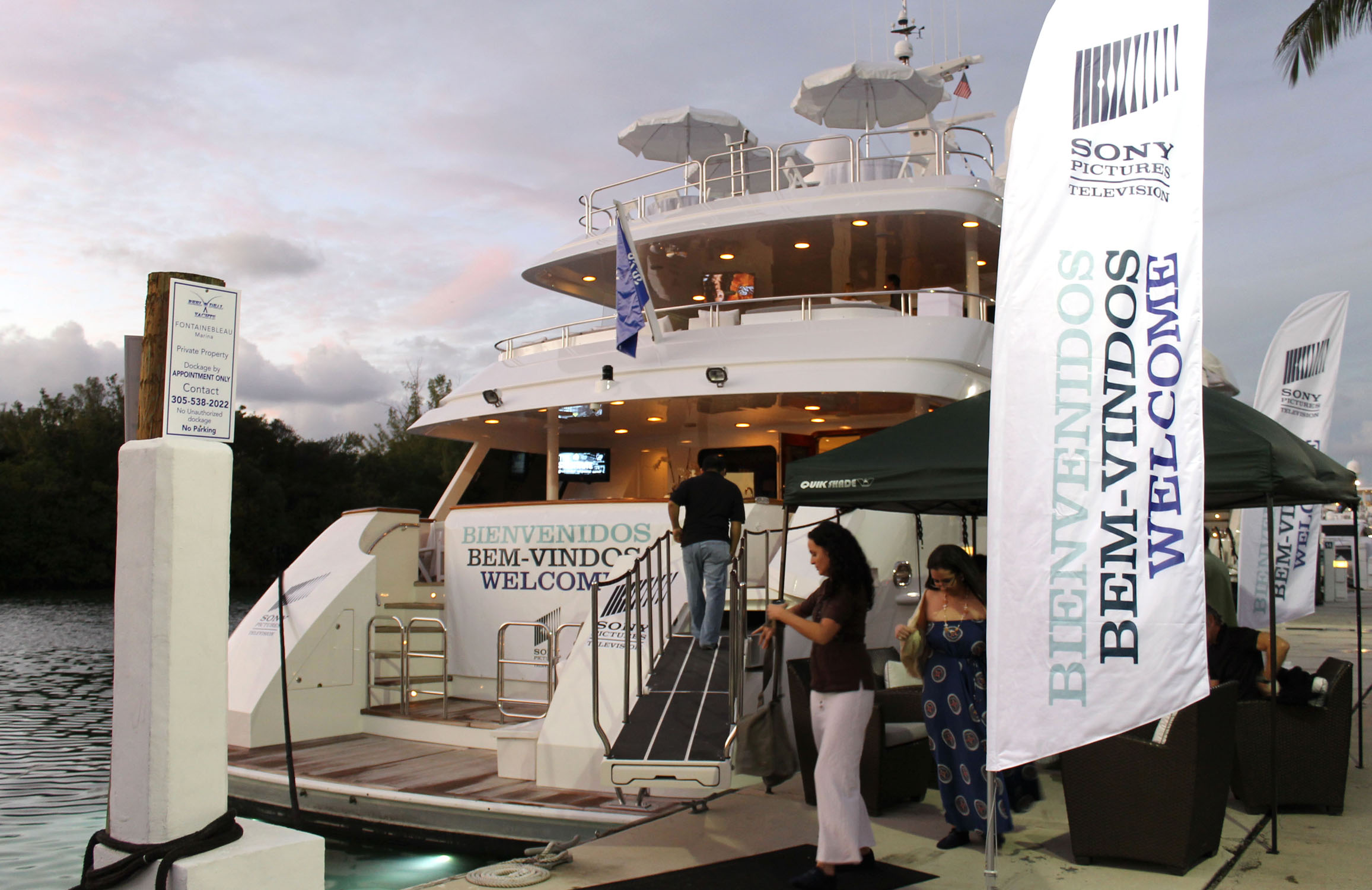 NATPE 2012 Sony Pictures Yacht