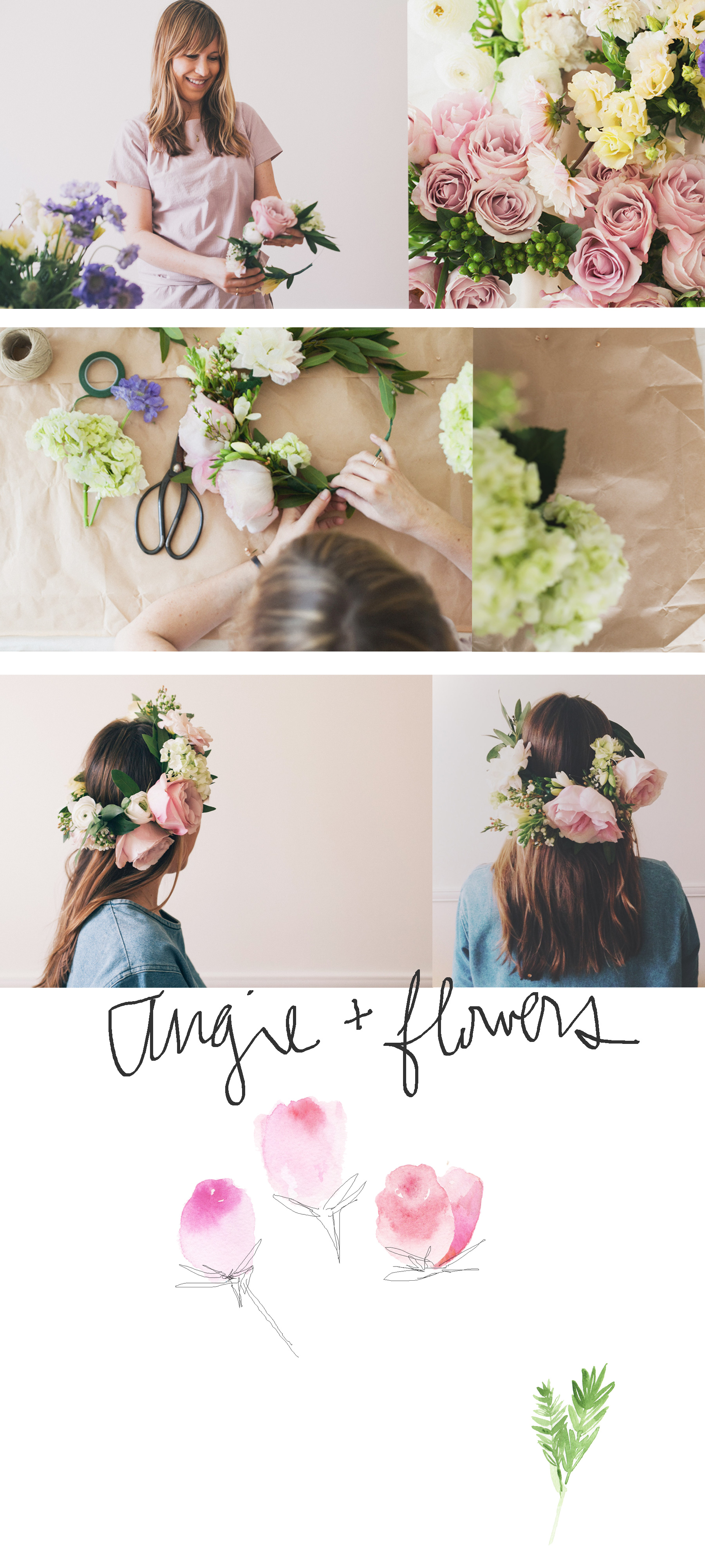 Naomi Yamada and Angela Denny Floral Crowns
