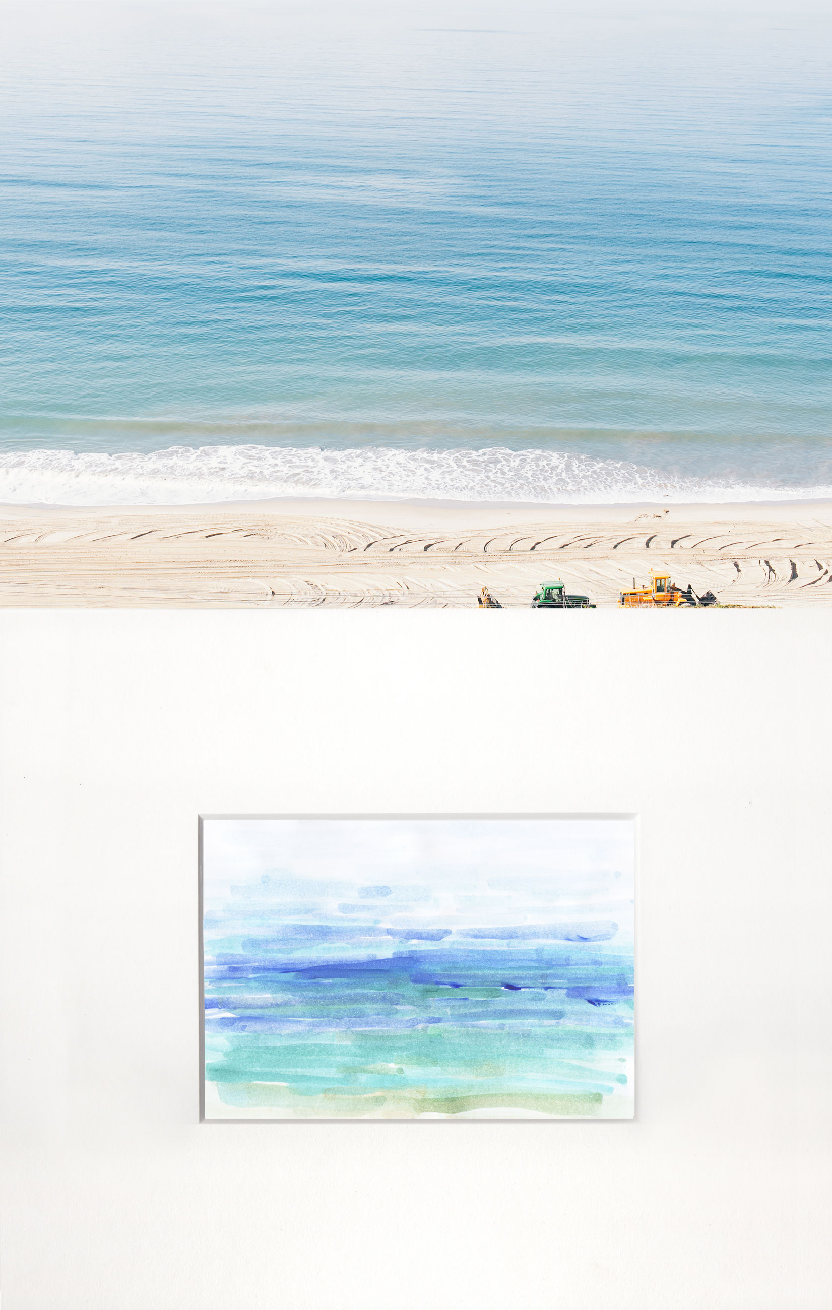 Pacific Ocean with Tractors by Naomi Yamada