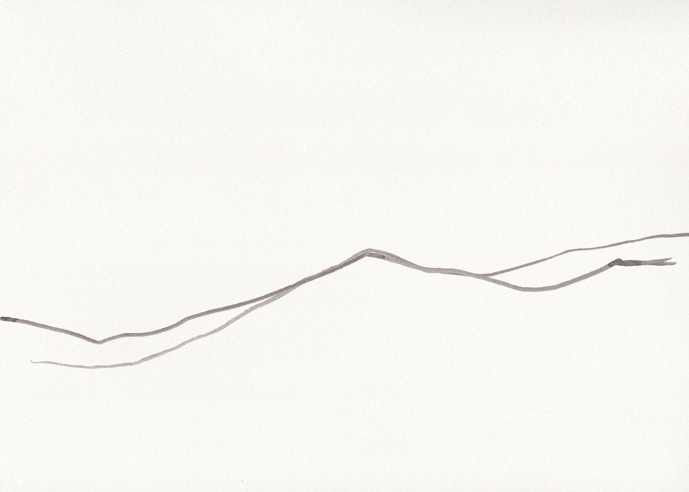 Naomi Yamada illustration of hill outline