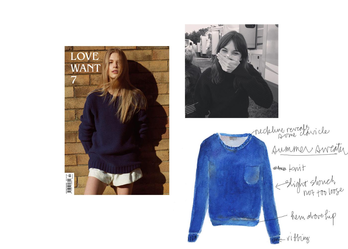 Summer sweater - navy knit