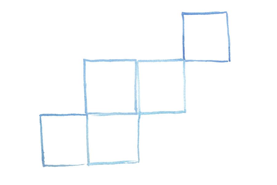 Naomi Yamada grid illustration