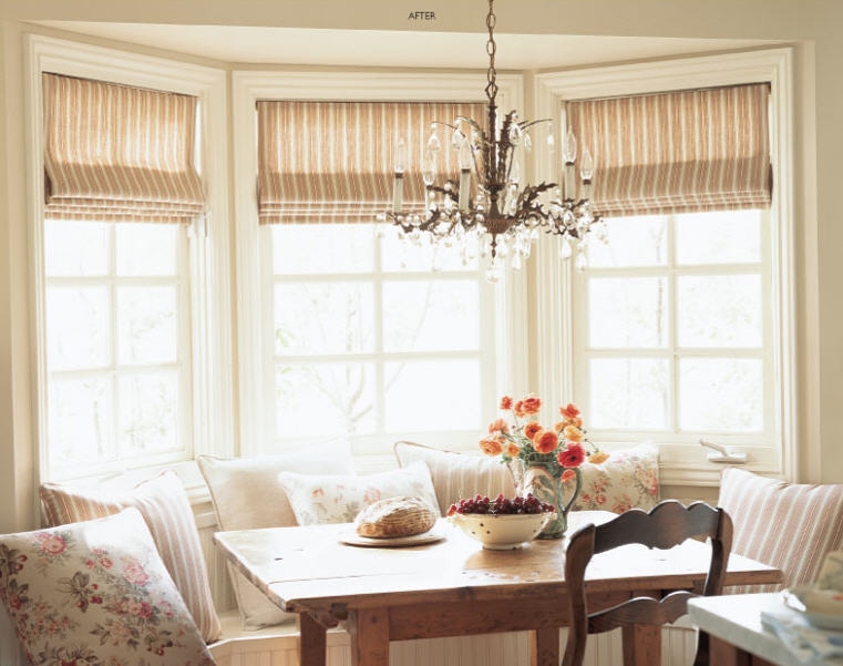 Roman shades exude luxury. Just look how simplicity can make up for the most average decor.
