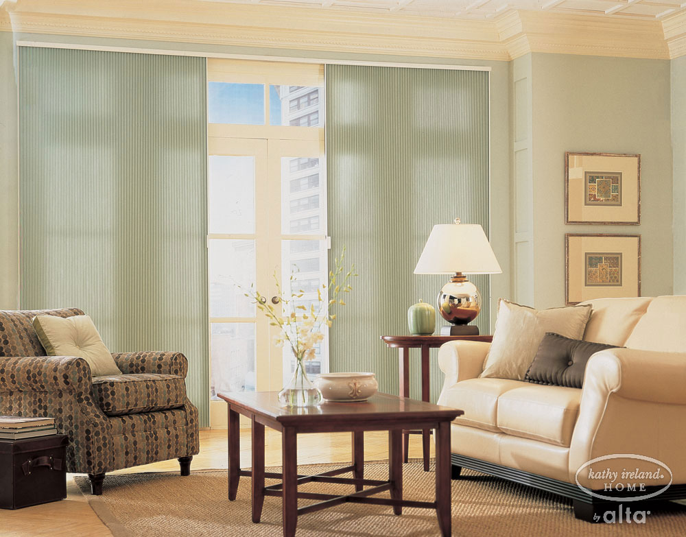 A great alternative are Vertical Honeycomb shades. Try these from Carolina Blind Crafters