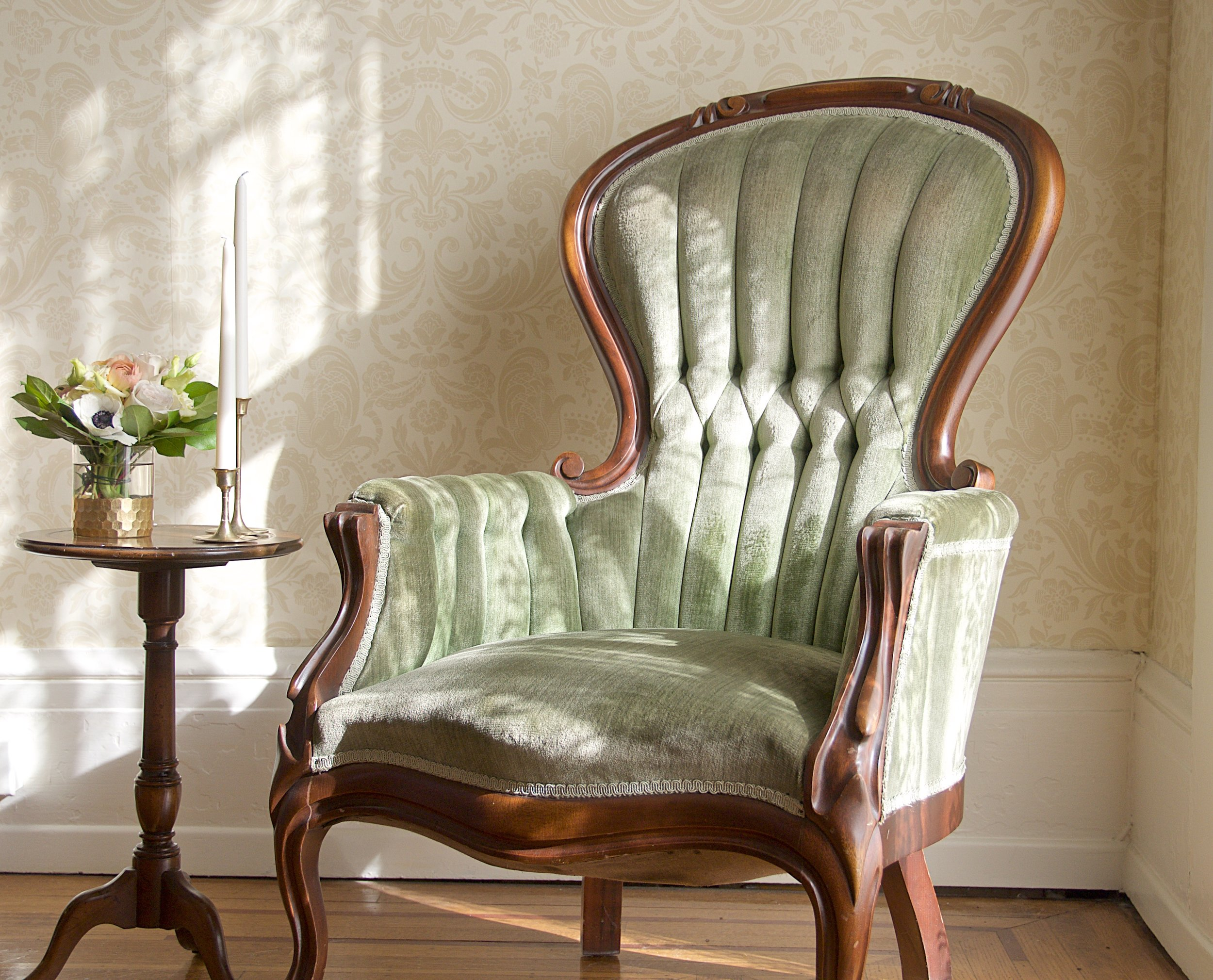 Green Parlor Chair