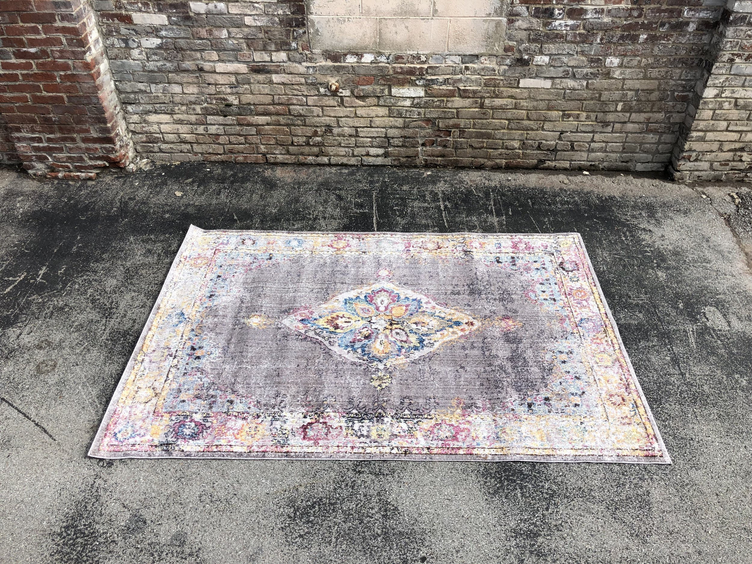 "5 x 7 Pink/Gray/Purple ""Claire Rug"""