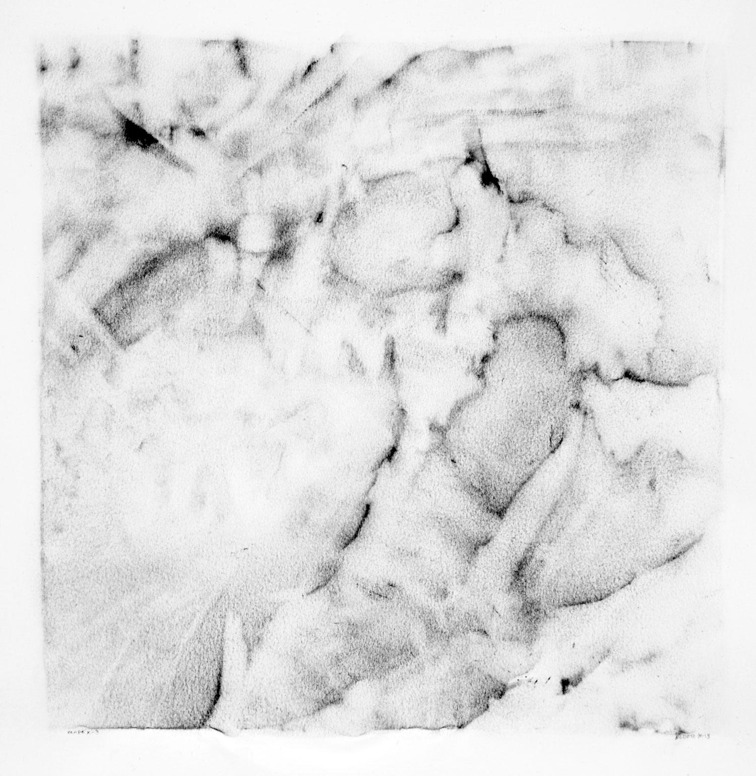 """SCAPE, X-3  12"""" X 12"""" image   19.5"""" x 25.5"""" Canson Dessin Paper"""
