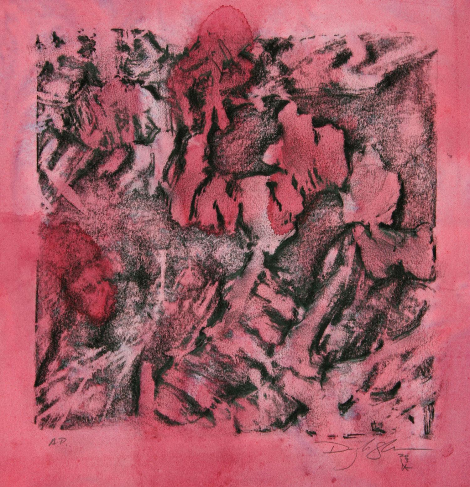 """SCAPE, A.P. -3  12"""" X 12"""" image   19.5"""" x 25.5"""" Canson Dessin Paper"""