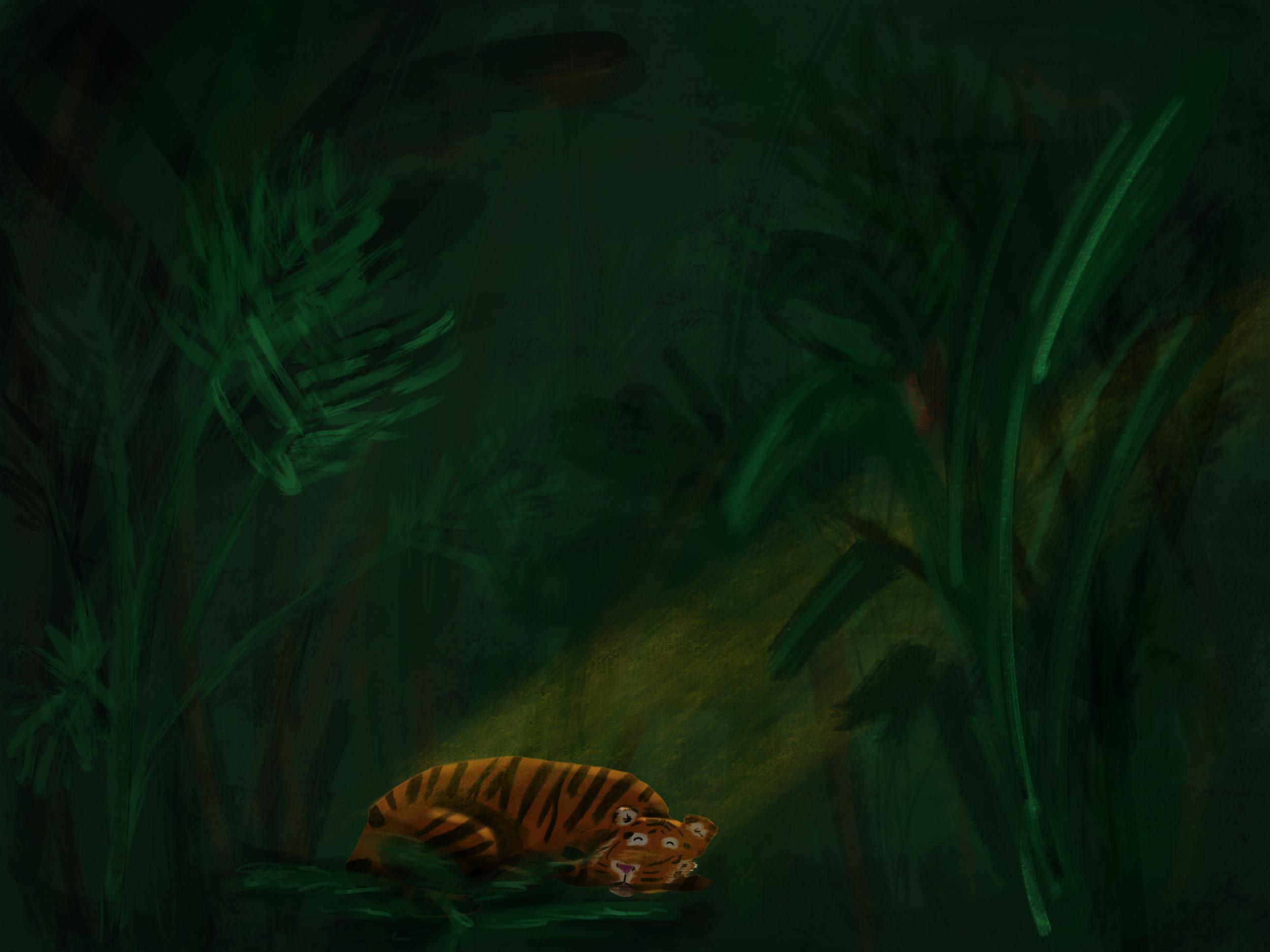 Tiger Nap, 2016. Digital