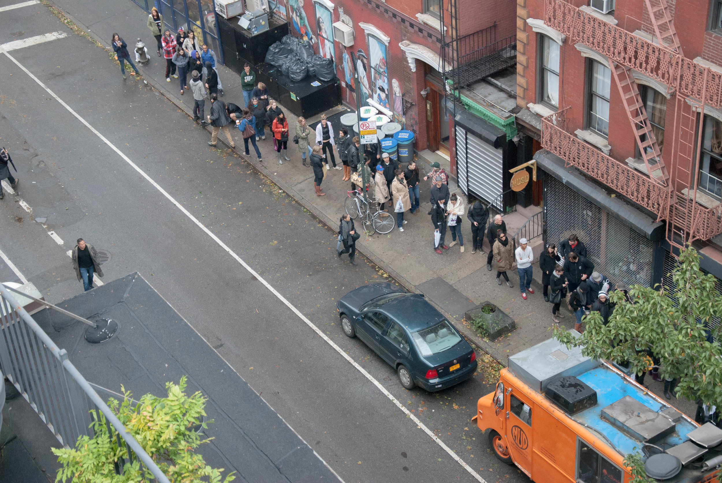 After Hurricane Sandy in 2012, the Mud Truck came to the rescue and the line went around the block.