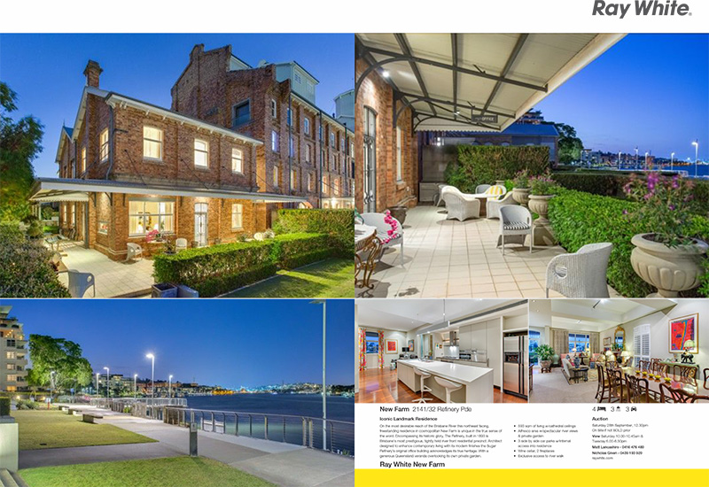 Our photography of this property was featured in The Courier Mail's third ever double page spread.