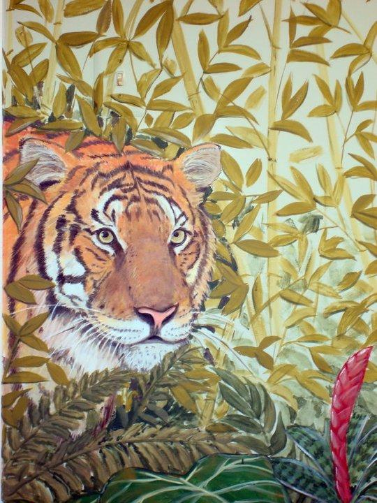 Tiger Jungle Mural
