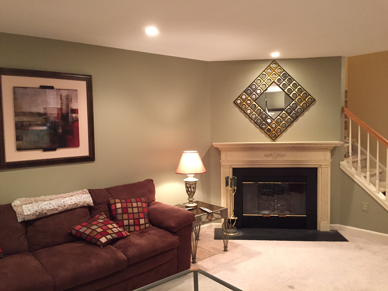 Family room interior painting