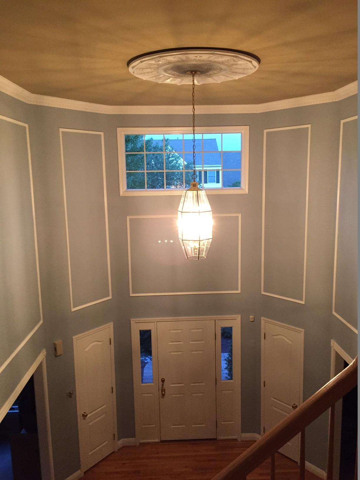 Foyer interior painting