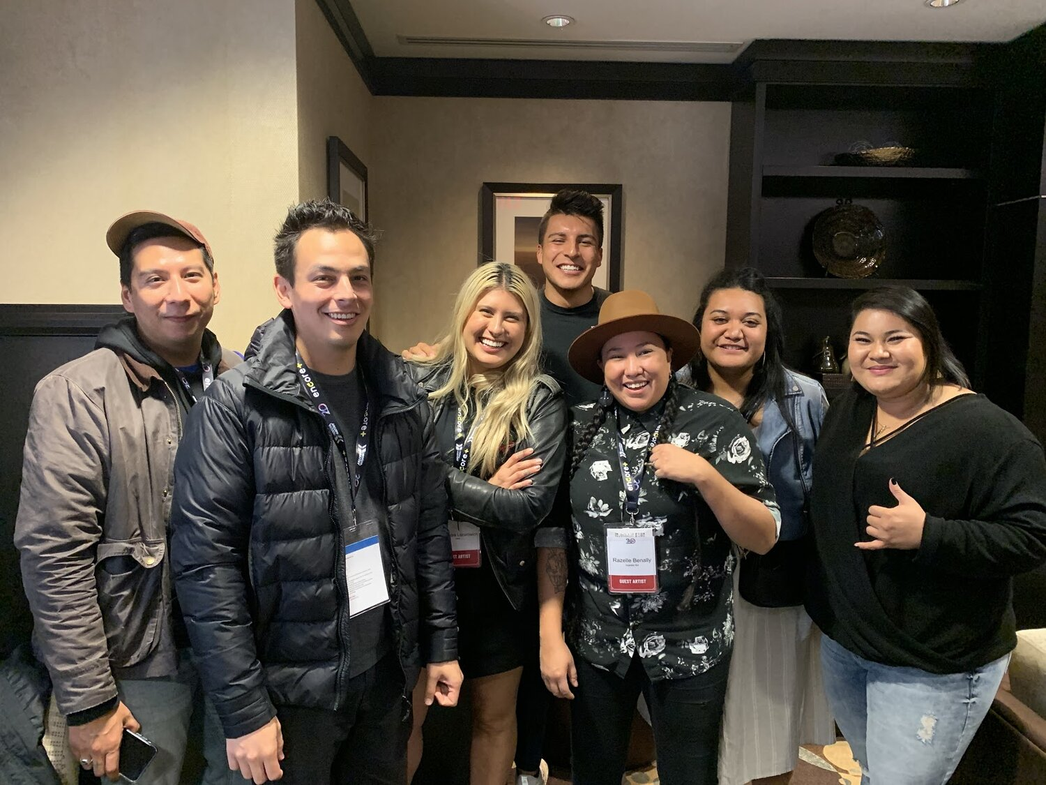Hud with Indigenous filmmakers and Sundance Indigenous Program Staff at imagineNATIVE Film Festival in Toronto, Canada  Photo Courtesy of Hud Oberly