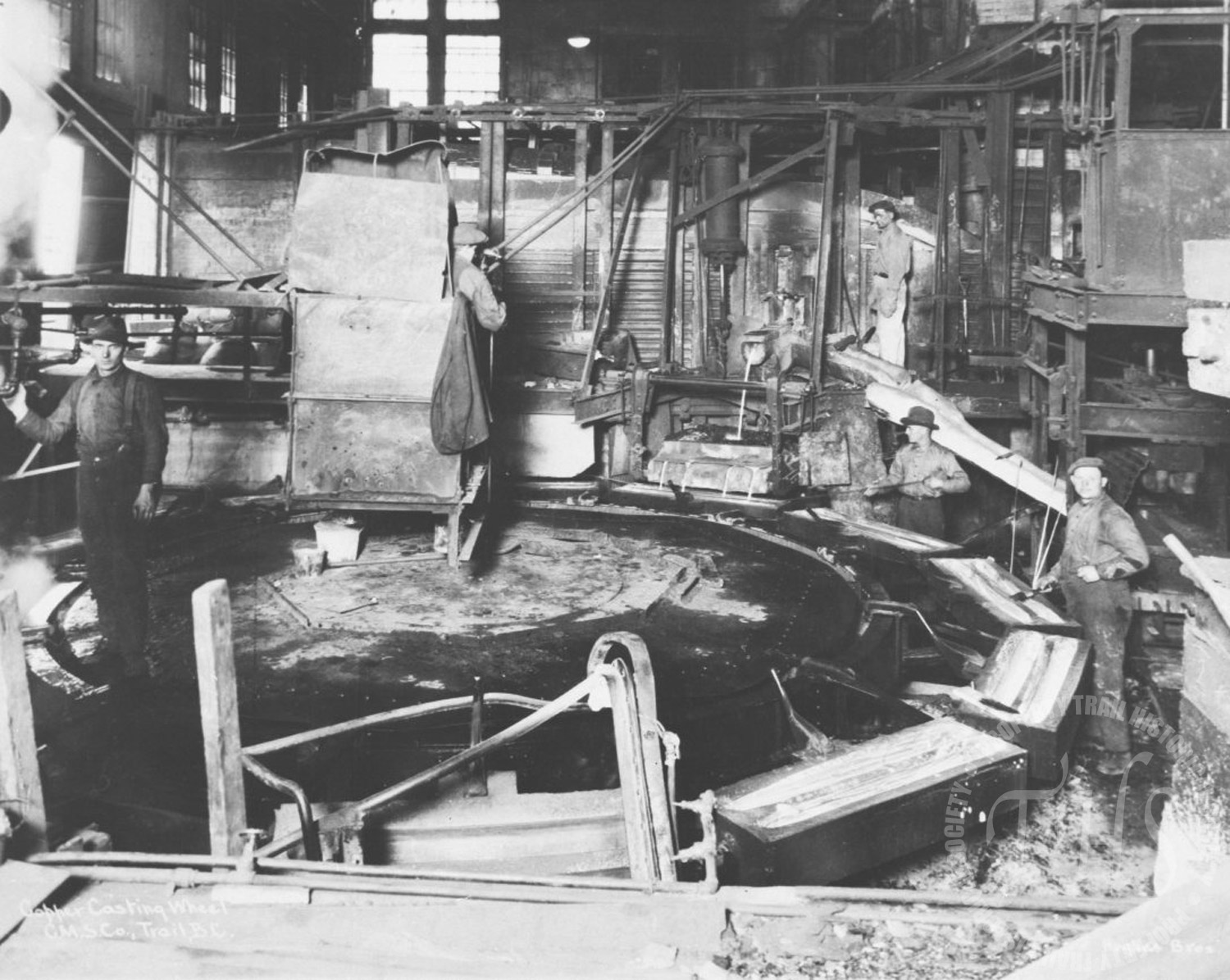 Copper Casting Wheel, Trail smelter (Hughes) - 1920