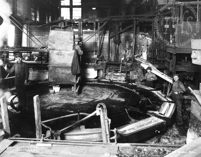 Copper casting wheel, Trail Smelter (Hughes) - 1920
