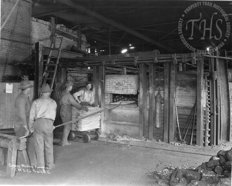 Copper melting furnace, Trail Smelter (Hughes) - 1920