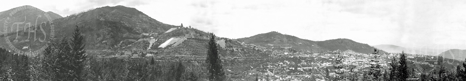 General View of Rossland showing mines (Carpenter) - Ca. 1906