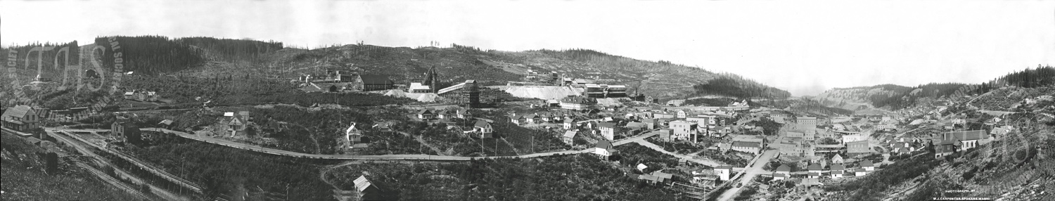 General view of Phoenix, showing mines (Carpenter) - Ca. 1906