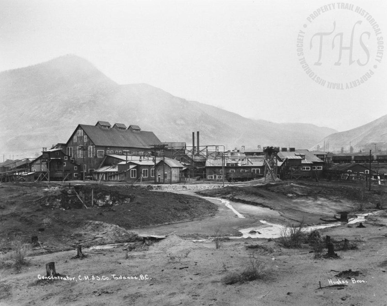 Concentrator at Trail, Zinc C-cast cutting enclosure (Hughes) - 1922