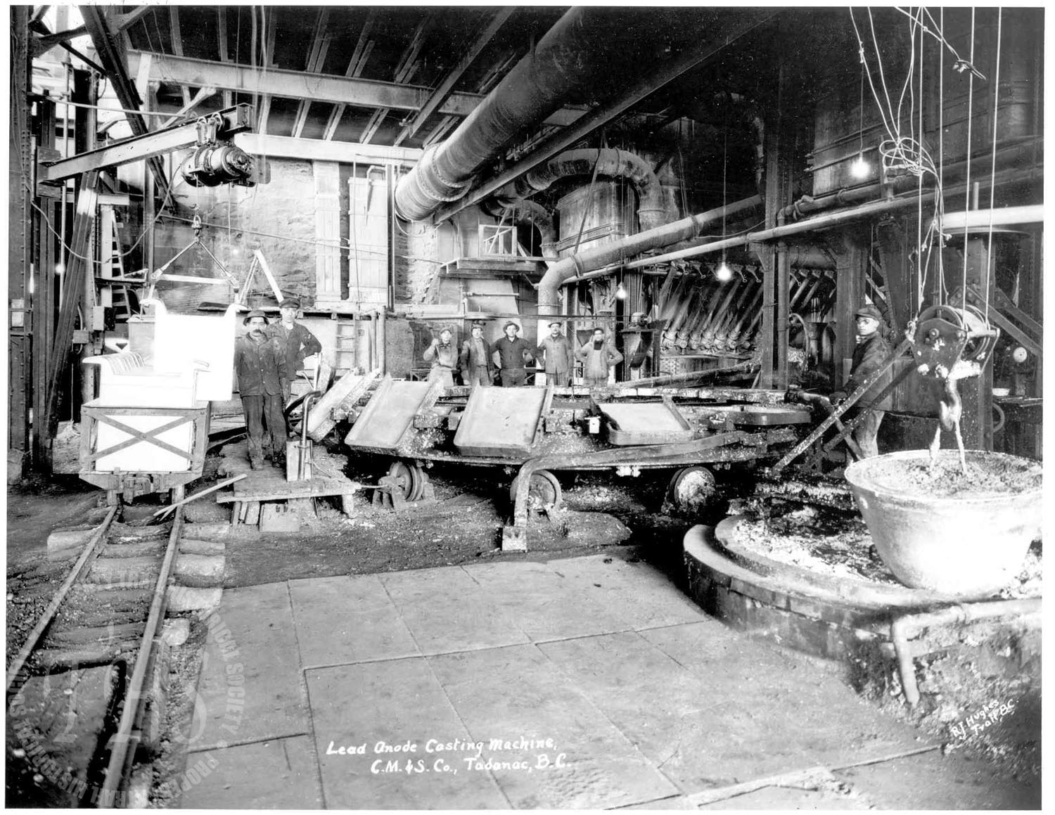 Lead Casting, Trail Smelter (Hughes) - 1922