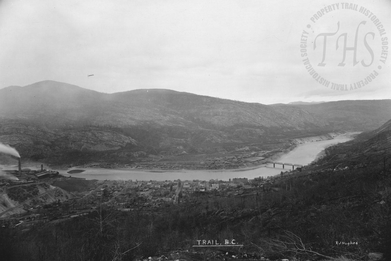 Trail Smelter & Old Bridge (Hughes) - 1925