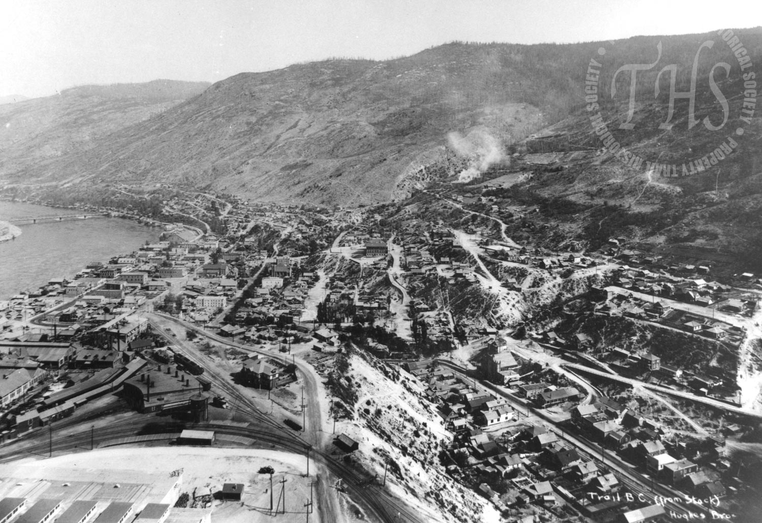 Trail & Gulch from zinc stack (Hughes) - 1925