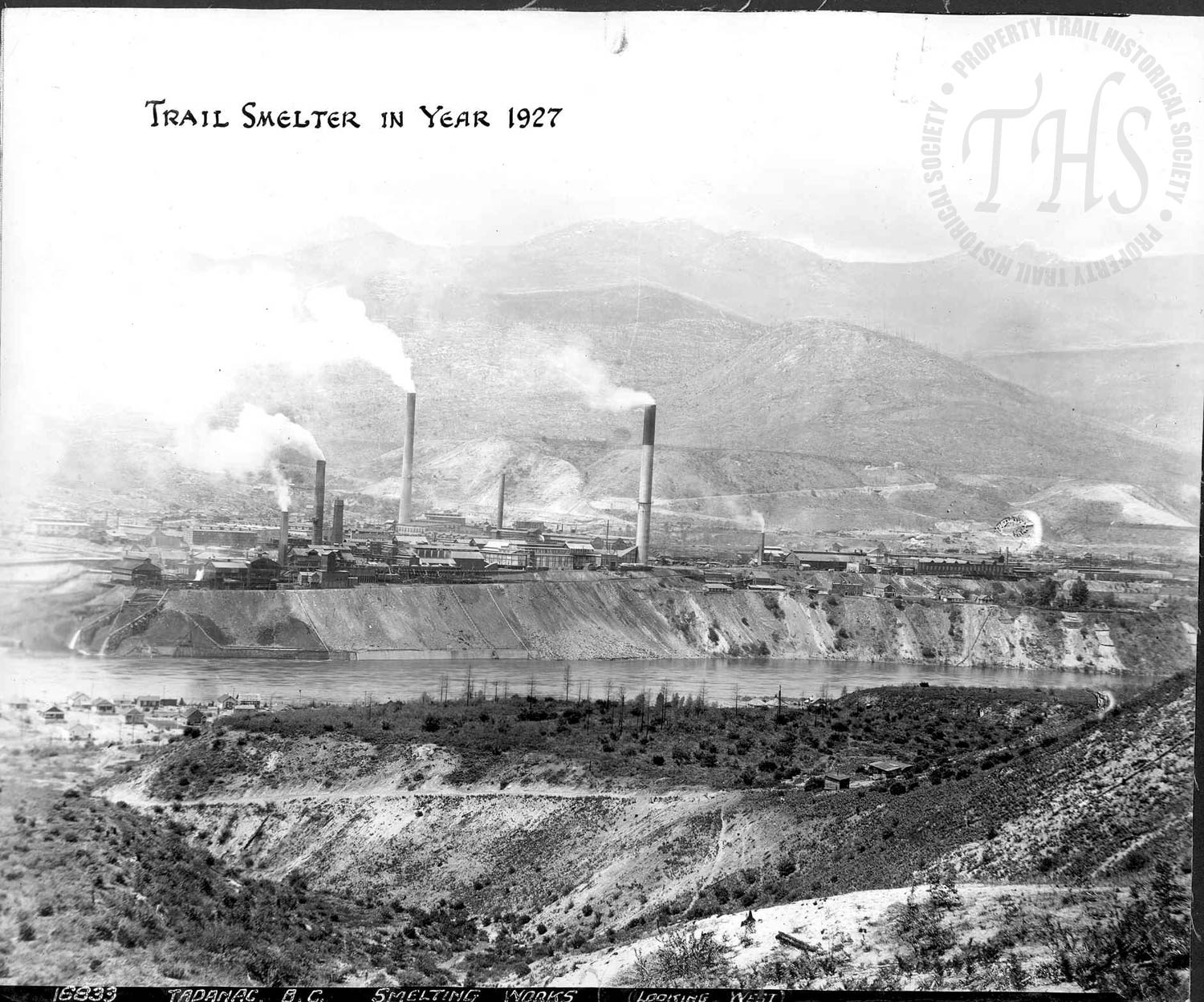 Smelter from East Trail (Hughes) - 1927